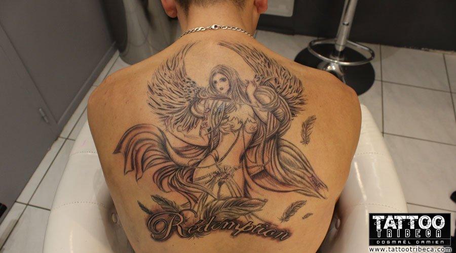 Tatouage D Ange Pour Femme Kolorisse Developpement